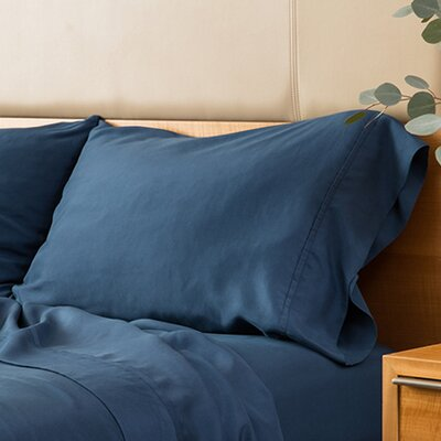 Matte Silk Pillow Case Size: Full/Queen, Color: Navy