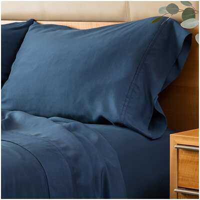 Matte Silk Sheet Set Size: California King, Color: Navy
