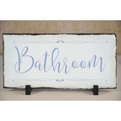Slate Bathroom Plaque