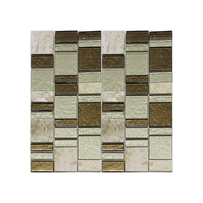 Riviera Random Sized Natural Stone/Glass Mosaic Tile in Champagne