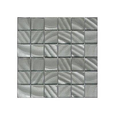 Valverde 3D 2 x 2 Glass/Aluminum Mosaic Tile in Pearl