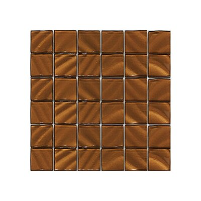 Valverde 3D 2 x 2 Glass/Aluminum Mosaic Tile in Copper