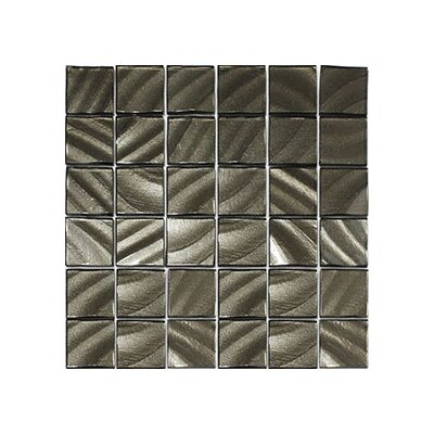 Valverde 3D 2 x 2 Glass/Aluminum Mosaic Tile in Carbon