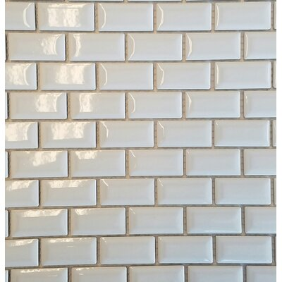 Mini 1 x 2 Porcelain Subway Tile in White