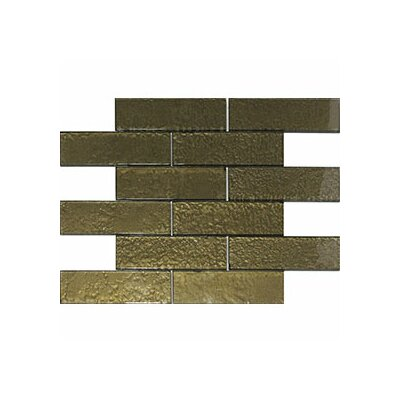 Cartagena 6 x 2 Glass Subway Tile in Ochre