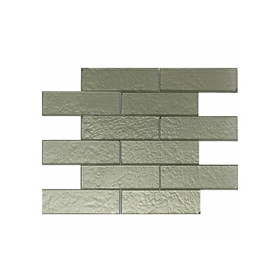 Cartagena 2 x 6 Glass Subway Tile in Champagne