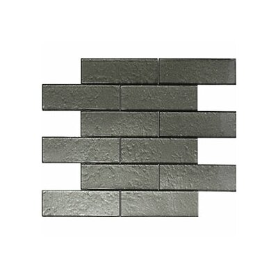 Cartagena 2 x 6 Glass Subway Tile Artic Gray