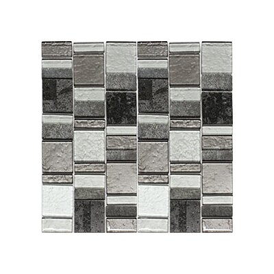 Riviera Random Sized Natural Stone/Glass Mosaic Tile in Artic Gray