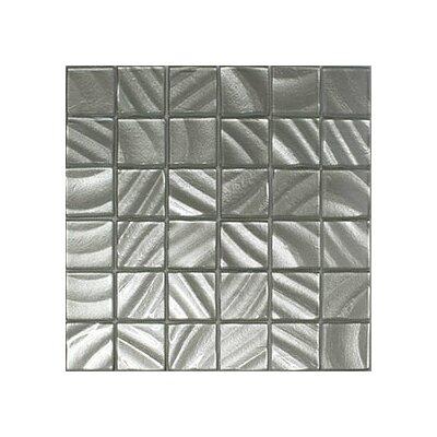 Valverde 3D 2 x 2 Glass/Aluminum Mosaic Tile in Silver