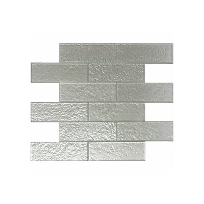 Cartagena 2 x 6 Glass Subway Tile in Pearl