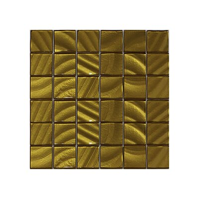 Valverde 3D 2 x 2 Glass/Aluminum Mosaic Tile in Gold