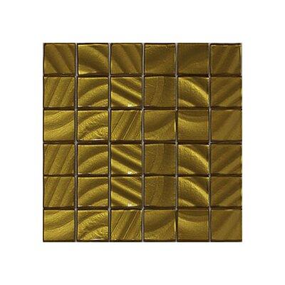 Valverde 3D 2 x 2 Glass/Aluminum Mosaic Tile in Gold