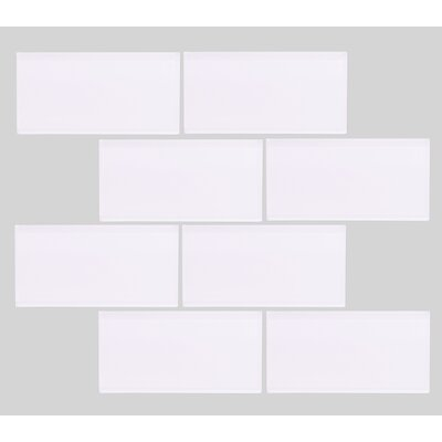 Valencia 3 X 6 Super White Glass Subway Tile