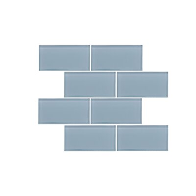 Valencia 3 X 6 Aqua Green Glass Subway Tile