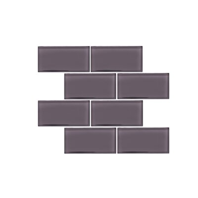 Valencia 3 X 6 Dark Grey Glass Subway Tile