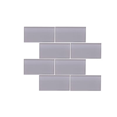 Valencia 3 X 6 Grey Glass Subway Tile