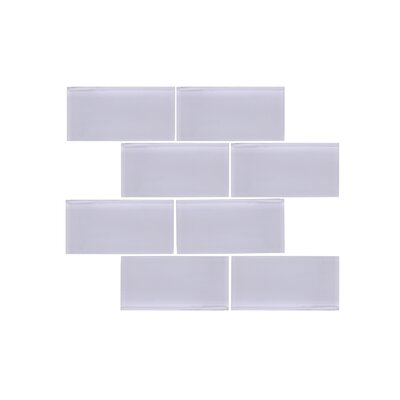 Valencia 3 X 6 Light Grey Glass Subway Tile