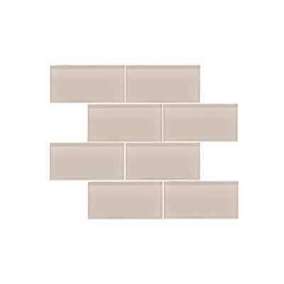 Valencia 3 X 6 Light Beige Glass Subway Tile (Set of 5)
