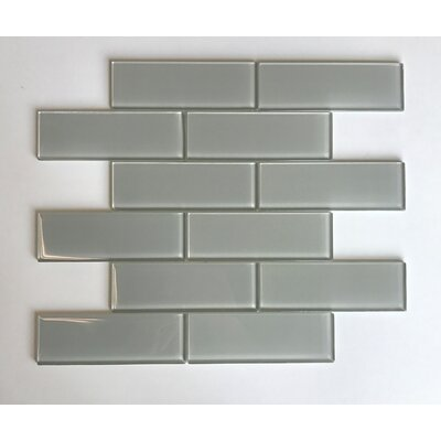 Granada Meshed Glass Subway 2 x 6 Glass Mosaic Tile in Sand