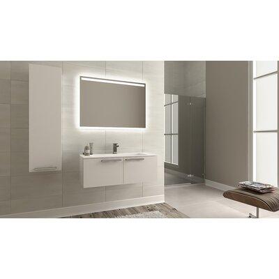 Nico Modern 24 Single Bathroom Vanity Set Base Finish: Glossy White
