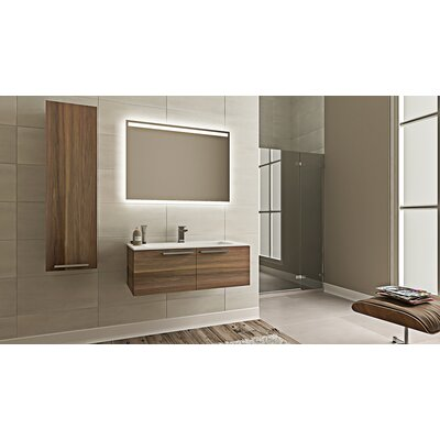 Nico Modern 24 Single Bathroom Vanity Set Base Finish: Matte Walnut