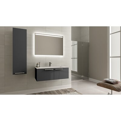 Nico Modern 24 Single Bathroom Vanity Set Base Finish: Glossy Gray
