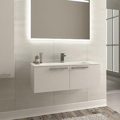 Nico 40 Single Bathroom Vanity Set with Single Hole Faucet Base Finish: Glossy White