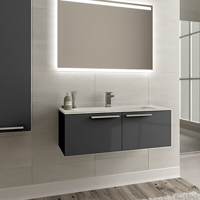Nico 40 Single Bathroom Vanity Set with Single Hole Faucet Base Finish: Glossy Gray