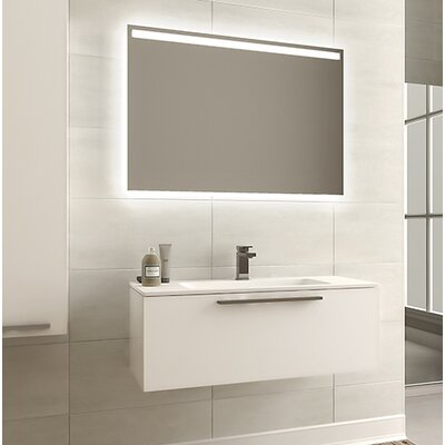 Malin 32 Single Bathroom Vanity Set with Mirror Base Finish: UV Glossy White