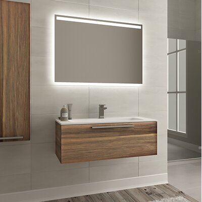 Malin 32 Single Bathroom Vanity Set with Mirror Base Finish: Matte Walnut