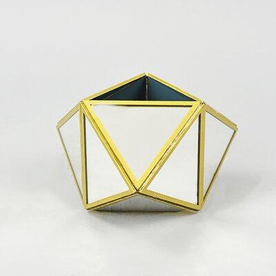 Geometric Gold Trim Mirror Terrarium VTERG7MR(GD)