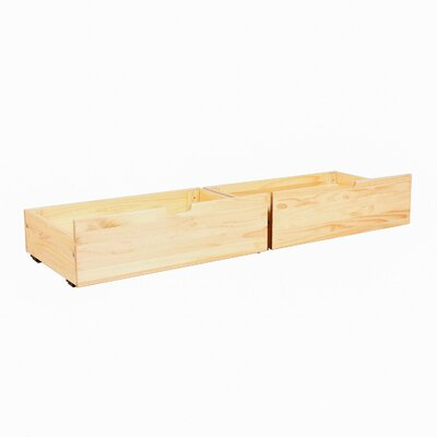 Solid Wood Underbed Storage Drawer Color: Natural