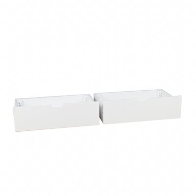 Solid Wood Underbed Storage Drawer Finish: White