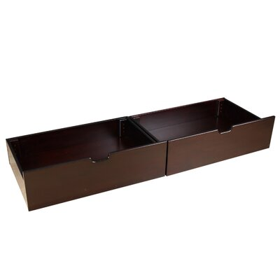 Solid Wood Underbed Storage Drawer Finish: Espresso