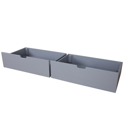 Solid Wood Underbed Storage Drawer Finish: Gray