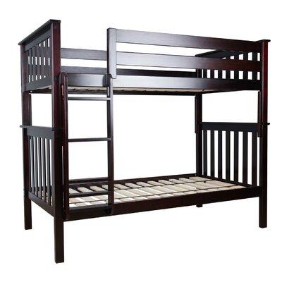 Twin over Twin Bunk Bed Color: Espresso 17-5201-005