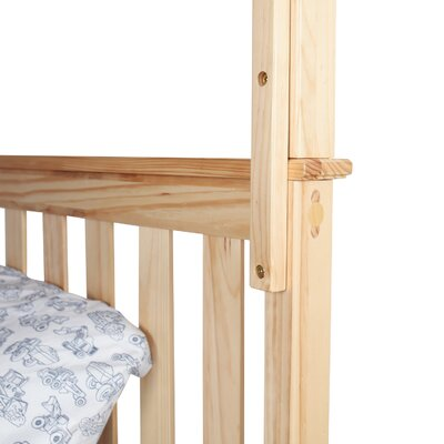 Solid Wood Bunk Bed with Under Bed Storage Drawer Size: Twin over Full, Bed Frame Color: Natural