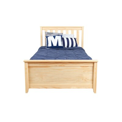 Solid Wood Twin Platform Bed with Under Bed Storage Drawer Color: Natural