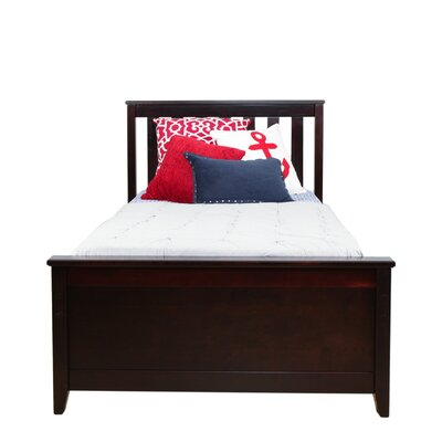 Solid Wood Twin Platform Bed Color: Espresso