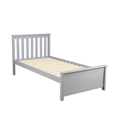 Solid Wood Twin Platform Bed Finish: Gray