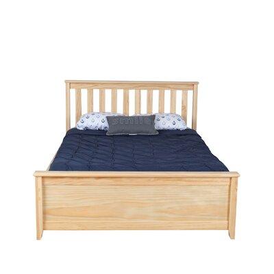 Solid Wood Full Platform Bed Color: Natural