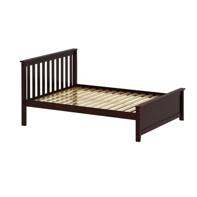 Solid Wood Full Platform Bed Finish: Espresso