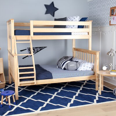 Solid Wood Twin Over Full Bunk Bed Finish: Natural