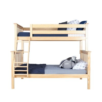 Solid Wood Bunk Bed Size: Full over Full, Bed Frame Color: Natural