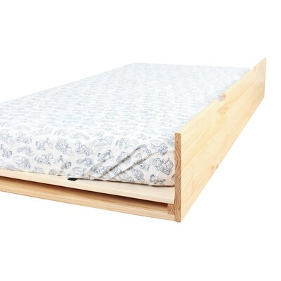 Solid Wood Twin Trundle Bed Color: Natural