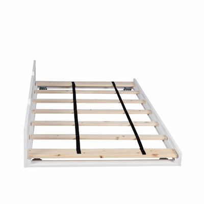 Solid Wood Twin Trundle Bed Color: White