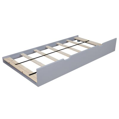 Solid Wood Twin Trundle Bed Finish: Gray
