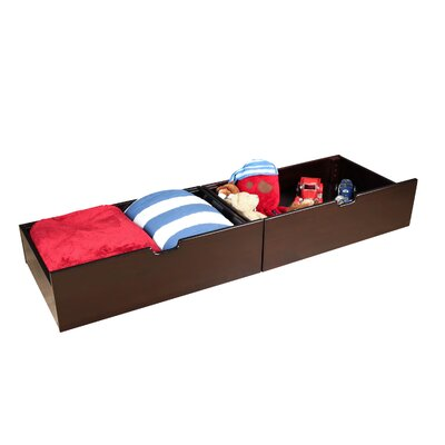 Solid Wood Underbed Storage Drawer Color: Espresso
