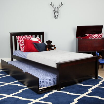 Solid Wood Twin Platform Bed with Trundle Frame Finish: Espresso