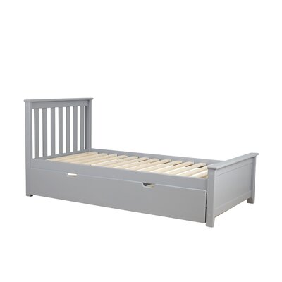 Solid Wood Twin Platform Bed with Trundle Frame Finish: Gray